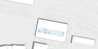 Innerstädtisch, Neubau, Konzept, Stahl-Beton-Tragwerk, Glasfassade, Parkplatz, Sportflächen, Öffentliche Hand, Großprojekt, öffentlich zugänglich, Baden, Sport, Gastronomie, Architektur, KTP, Kauffmann Theilig Partner, Freie Architekten PartGmbB, Stuttgart