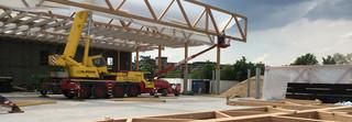 Chemoform, Holzkonstruktion, Wendlingen, Holz, Fachwerkträger, BauBuche, Konstruktion, Holzbau