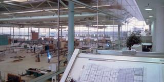 Bauabschnitte, Erweiterung, Stahltragwerk, Glasfassade, Terrasse, Privat, Büro, Verwaltung