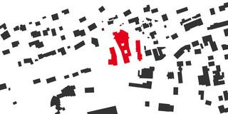 Innerstädtisch, Neubau, Städtebau, Betontragwerk, WDVS, Flachdach, Dachbegrünung,Tiefgarage, Garten, Terrassen, Balkon, Platz, Erker, Atrium, Öffentliche Hand, öffentlich zugänglich, Großprojekt, Wohnen, Pflege, Restaurant, Aufenthalt, Büro, Verwaltung, Shops, Bad Brückenau, Seniorenwohnen, Gastronomie, Landschaft, Gesundheit, Sozial, Terrasse, Dachbegrünung, Kantine, KTP, Architektur, Kauffmann Theilig Partner, Stuttgart, Schnitt