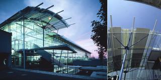 Erweiterung, Bauabschnitte, Modular, Stahltragwerk, Glasfassade, Flachdach, Privat, Großprojekt, Produktion, Entwicklung, Büro, Verwaltung, Architektur, KTP, Kauffmann Theilig Partner, Freie Architekten PartGmbB, Stuttgart,