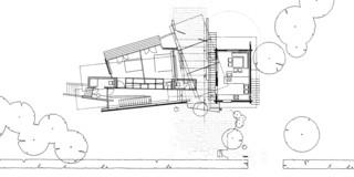 Erweiterung, Beton-Stahl-Tragwerk, Holzverkleidung, Glasdach,  Garten, Terrasse, Privat, Wohnen, Architektur, KTP, Kauffmann Theilig Partner, Stuttgart, Schnitt, Grundriss, Einfamilienhaus