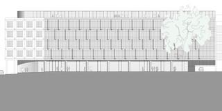 Innerstädtisch, Erweiterung, Konzept, Betontragwerk, Glasfassade, Flachdach, Tiefgarage, Balkone, Privat, Büro, Verwaltung, Architektur, KTP, Kauffmann Theilig Partner, Freie Architekten PartGmbB, Stuttgart