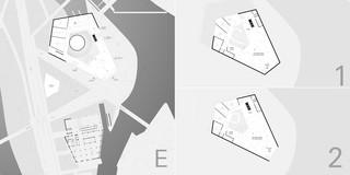 Solitär, Innerstädtisch, Erweiterung, Konzept, Freiform, Betontragwerk, Glasfassade, Metallfassade, Flachdach, Tiefgarage, Terrasse, Atrium, Platz, Privat, öffentlich zugänglich, Großprojekt, Museum, Ausstellung, Gastronomie, Shop, Architektur, KTP, Kauffmann Theilig Partner, Freie Architekten PartGmbB, Stuttgart