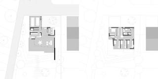 Neubau, Betontragwerk, Holzfassade, Flachdach, Terrasse, Garten, Privat, Wohnen, Architektur, KTP, Kauffmann Theilig Partner, Freie Architekten PartGmbB, Stuttgart,