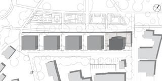 Innerstädtisch, Neubau, Modular, Betontragwerk, WDVS, Flachdach, Dachbegrünung, Tiefgarage, Garten, Terrassen, Balkone, Investor, Wohnen, Architektur, KTP, Kauffmann Theilig Partner, Freie Architekten PartGmbB, Stuttgart, Städtebau,