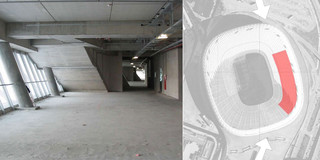 Bestandschutz, Ausbau, Innenraum, Konzept, Farbe, Medienwand,  Lichtinstallation, Rolltreppe, Privat, öffentlich zugänglich, Museum