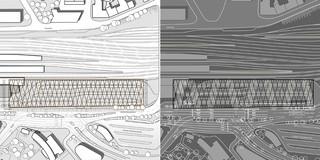 Innerstädtisch, Erweiterung, Konzept, Städtebau, Modular, Stahltragwerk, PVC-Folie, Platz, Öffentliche Hand, Aufenthalt, Überdachung, Transport, Architektur, KTP, Kauffmann Theilig Partner, Freie Architekten PartGmbB, Stuttgart