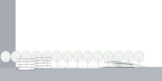 Neubau, Bauabschnitte, Konzept, Städtebau, Freiform, Stahl-Beton-Tragwerk, Glasfassade, Dachbegrünung, Parkhaus, Sportflächen, Privat, Kindertagesstätte, Fitness