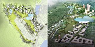 China, Neubau, Konzept, Betontragwerk, WDVS, Glasfassade, Park, Sportflächen, Hochhäuser, Großprojekt, Freizeit, Sport, Wohnen